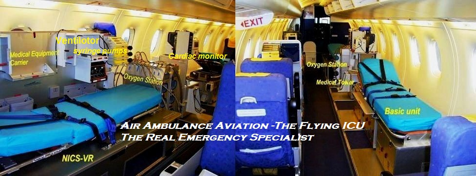 air ambulance aviation inside in Patna India,